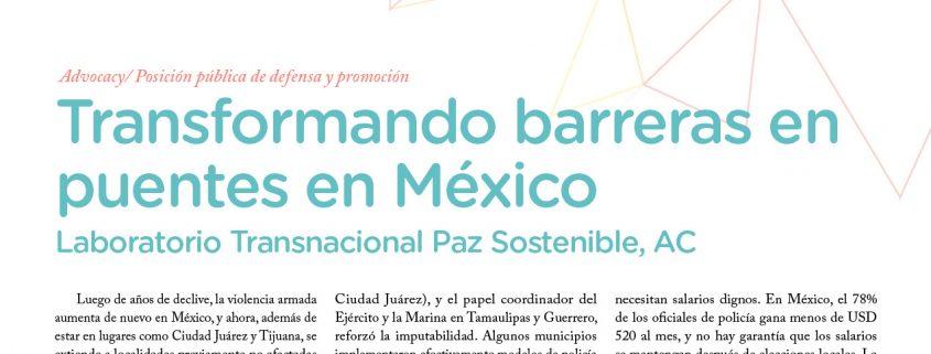 Artículo: Transformando Barreras en Puentes en México